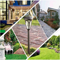 Solar energy lawn lamp Stainless steel outdoor garden househ...