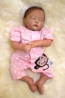 49 cm / 20 pulgadas Hecho a mano Reborn Baby Doll Girl Vida recién nacida como vinilo suave de silicona Suave suave toque cuerpo del cuerpo chupete magnético