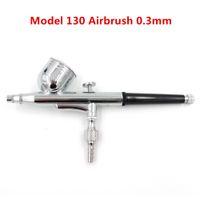 Modèle 130 neuf 0.3mm pinceau d'air mini peinture pistolet à double action Kit d'aérographe à double action 7cc