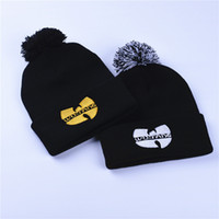 Invierno Wutang WU-TANG CLAN Musice Beanie Skullies de punto Mujeres Wu Tang Hat HipHop Invierno Pompones calientes Gorros Gorros Gorros