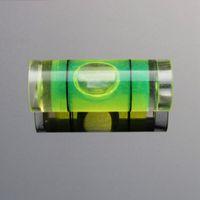 (50 قطعة / الكثير) 9.5 * 25 ملليمتر أنبوب البلاستيك مستوى فقاعة مستوى فقاعة فقاعة لصناعة إطار الصورة أداة قياس