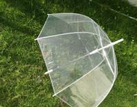 80pcs lot Free Shipping Women Girl Transparent Clear Rain Umbrella Parasol Dome For Wedding Party Favor