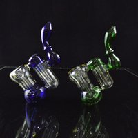 Colored Bubbler Dab Rigs Two Chamber Double Recycler Water P...