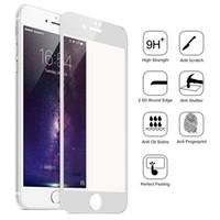 Verre Trempé 3D HD Film de protection souple pour iPhone 5 5c 5s 6 plus 6s Protecteur d'écran en fibre de carbone couverture totale gratuit