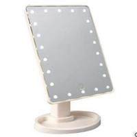 22 أضواء LED شاشة تعمل باللمس ماكياج مرآة التجميل تضييق مرآة الجمال 360 درجة دوران لمس الشاشة مرآة