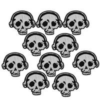 10 جهاز كمبيوتر شخصى سماعات الجمجمة بقع التطريز للملابس الحديد التصحيح للملابس زين الخياطة الملحقات ملصقات على القماش الحديد على بقع