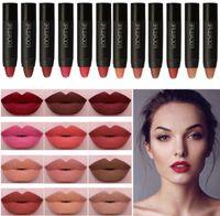 Matte Lipstick Lèvres Maquillage Cosmétiques Étanche Pintalabios Batom Mate Lip Gloss Rouge A Lévre Labial Livraison gratuite