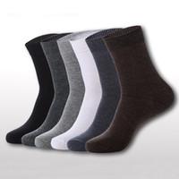 Commercio all'ingrosso-uomini calzini traspiranti classici Business Brand Brand 100% cotone uomo calzini sport casual inverno calzini termici calze calzetines 5 colori