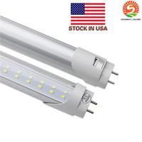 T8 LED Tubes LED 4ft 1.2m 1200mm Tube Ampoules Lumières Super Bright 22W 28W AC110-277V Stock aux Etats-Unis