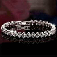 925 gümüş bilezik kristal takı çekicilik bilezik elemanları elmas zincir moda bağbozumu düğün en kaliteli swarovski