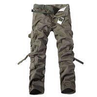 Envío gratis Camo Cargo Multi-bolsillo pantalones para hombre casual matchstick pantalones militares Camouflage pantalón pantalones