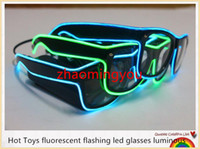 YON New Hot Toys fluorescent flashing led glasses luminous 1...