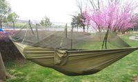 Tende escursionismo semplice tenda automatica di apertura 2 persona facile trasporta rapida Hammock con letto Nets estate all'aperto aria tende altalena poltrona letto
