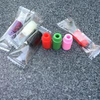 510 Silicone Embout buccal Couvercle goutte à goutte jetable Silicone coloré test capsules en caoutchouc courte ego Test Tips