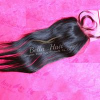 """Unverarbeitete peruanische Haare Seidengrundspitzespitze 10 """"-26"""" Natürliche Farbe Seidiges Gerade Jungfrau Menschliches Haar Freies Verschiffen Bellahair"""