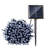 Солнечные Лампы светодиодные гирлянд 100/200 LEDS Открытый Фея Праздник Рождественская вечеринка Гирлянды Солнечные лужайки сада Lights Водонепроницаемый