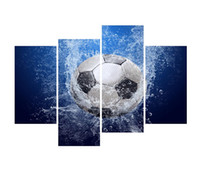 YIJIAHE Moder Print Canvas Painting Football 4 Piece Canvas ...
