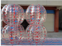 Yeni Tasarım Emniyet Çevre Koruma 0.8mm PVC 1.5m Hava Tampon Topu Vücut Zorb Topu Kabarcık Futbol Kabarcık atari Futbol Zorb Topu