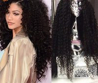 Kinky Curly Full Lace Human Hair Wigs Glueless Lace Front Hu...