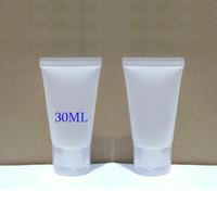 100pcs / lot 30ml Clamshell 포장 호스, 치약의 플라스틱 거품 클렌저 핸드 크림 유제 부분 튜브