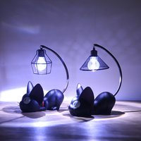 Zakka gato mágico mercearia Nightlight Início Mobiliário ornamentos de artesanato criativo de resina