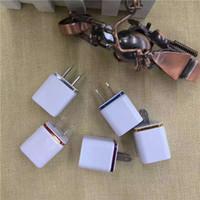 معدن مزدوج USB جدار الولايات المتحدة قابس 2.1A AC محول الطاقة الجدار شاحن قابس 2 ميناء لسامسونج s7 هواوي فون
