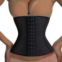 Women Spiral Steel Boned Corset Hollow Waist Training Cinche...