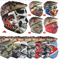 Skull Face Mask 12 colors Halloween costume party face mask ...