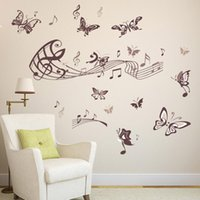 Minifeet Music butterfly wall stickers sitting room bedroom ...