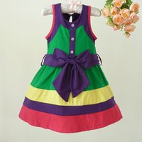 Girl Cotton Dress Contrast Color Jumper Skirt Kid Clothes Girls Summer Dress Cute Baby Girl Cothes Nice Gift for Children