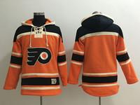 최고 품질 ! 필라델피아 플라이어 올드 타임 하키 유니폼 공란 이름 없음 번호 오렌지 까마귀 스웨터 스웻 셔츠 겨울 자켓