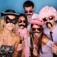 50 set Fun Lip Wedding Photo Booth Puntelli Decorazioni per feste Forniture Maschera Baffi Photo booth Photocall