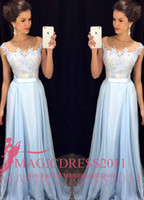 Charming Sky Blue Prom Evening Dresses 2016 Special Occasion...