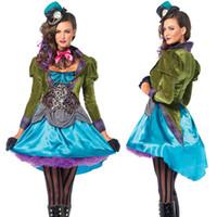 2017 Alicia en el país de las maravillas Nuevo traje de Halloween para  Navidad Alice Crazy 0727fd5dfa6f