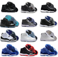 Air Retro 11 Space Jam Bred Gamma Blue Basketball Shoes Men ...