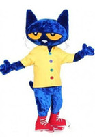 High quality Pete the Cat Mascot Costume Adult Size Hallowee...