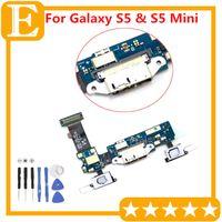 Liman Dok Bağlantı Mikro USB Bağlantı Noktası Flex Kablo Şarj OEM için Galaxy S5 SM-G900F G9008 G900A G900T G900M VS G900P G900V G9008V G9008W