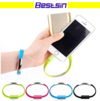 Bestsin Short Bracelet Data charger cable micro v8 USB FOR S...