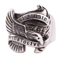 Punk Stainless Steel Ring With Eagle Design Finger Rings Liv...