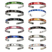 Speedometer bangles mixed style stainless steel bangles brac...