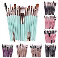 Buena calidad Profesional 15 PCS / Sets Eye Shadow Foundation Cyebrow Lip Brush Brushes Herramienta COMESTIC