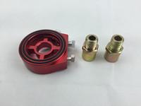 Adaptador de bocadillo de aluminio del refrigerador del filtro de aceite ligero universal del color rojo para los transmisores de la presión del aceite y de la temperatura del aceite