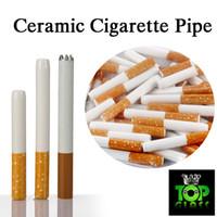Barato cigarro Cerâmica Hitters Amarelo Filtro Cor Cig Em Forma de Tubulação de Erva de Tabaco de Alta Qualidade Design de Cerâmica Fácil de Usar Acessórios de Fumo