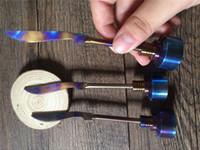 Титана ногтей карбюратор Cap Радуга Ti ногтей dabber 14 мм 18 мм прямой меч карбюратора cap стекла бонги стекла буровые установки