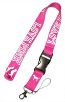 100cm phone LOVE PINK id Lanyard Necklace Chain Phone ID car...