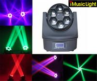 4 pz / lotto 6 * 15 W OSRAM RGBW 4in1 LED Mini Bee Eye Beam Light DMX512 Wash Moving Head Light DJ Disco Fest Home Show Bar Luci del Partito della Fase
