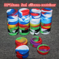 Wholesale mix colors 5mL Non-stick Silicone Jar Dab Wax Containers For Wax Silicone Jars Concentrate Case 6 in 1 Pass FDA &LFGB Test