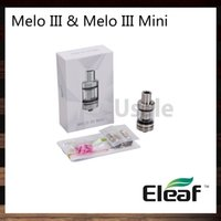 Ismoka Eleaf Melo III Atomizador Melo III Mini tanque 4 ml Melo 3 2 ml Melo 3 Mini Relleno superior Parte inferior oculta Flujo de aire ajustable 100% Original