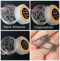 Герой альянса катушки Clapception супер Джаггернаут половину в шахматном порядке плавленый Клэптон готовых обернуть провода стандартные сопротивление для RDA электронная сигарета жидкостью Vape DHL бесплатно