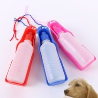 Portable Pet Travel Water Bowl Bottle Dispenser Feeder Cane Fontanella con 3 colori Blu Rosa Rosso 160909